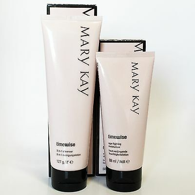 Mary Kay TimeWise 3 in 1 Cleanser & Age Fighting Moisturiser Set, Neu & OVP