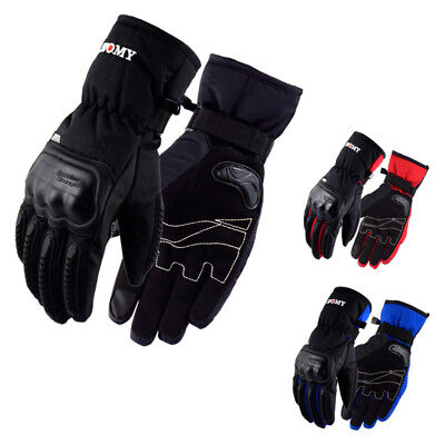 Guantes para Moto Invierno Impermeables Urban Scooter Touring Racing Touchscreen