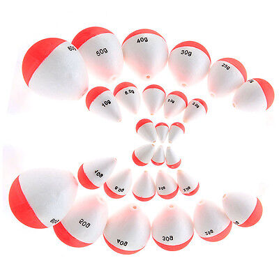 14x Foam Floats Bobbers Outdoor Fishing Tackle Portable 14 Sizes