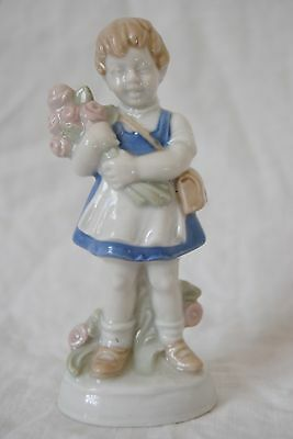 Wagner and Apel Girl Holding Flowers Figurine 12118