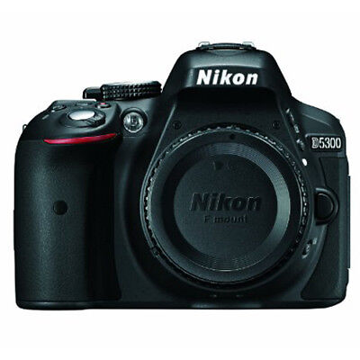 Nikon D5300 24.2 MP CMOS Digital SLR Camera with Wi-Fi & GPS Body Only (Black)