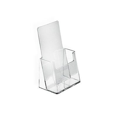 """AZM 12 Pack Tri Fold 4"""" x 9""""Brochure Holder Counter Display with Clear Acrylic"""