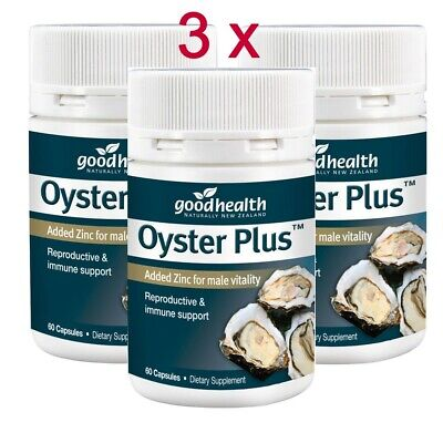 x3 (Tripple pack of 3x60 ) Good Health Oyster Plus Added Zinc for male vitality