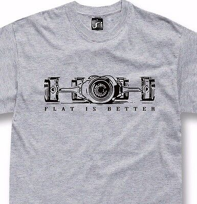 Boxer engine t-shirt flat is better for 911 bmw gs fans S - 5XL