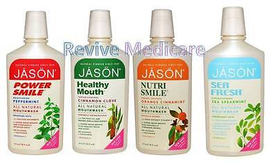 Jason Mouthwash 473ml Peppermint, Cinnamon, Orange, Spearmint