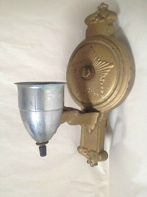 Antique Cast Iron H.P. Inc Wall Sconce Light Fixture