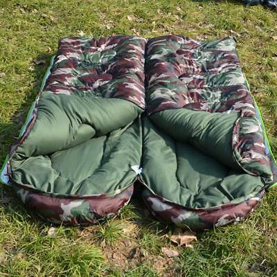 2Pcs NEW Outdoor Travel Camping Hunting Hiking Camo Sleeping Bag Army Waterproof