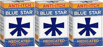 Blue Star Ointment For Ringworm / Eczema Itching 2oz  ( 3 pack )