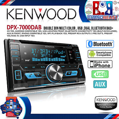 Kenwood Dpx-7000dab Usb Cd Dual Bluetooth Car Stereo Android Iphone Digital Dab