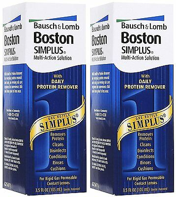 Bausch & Lomb Boston Simplus MultiAction Soln Protein Remover, 3.5oz ( 2pk)