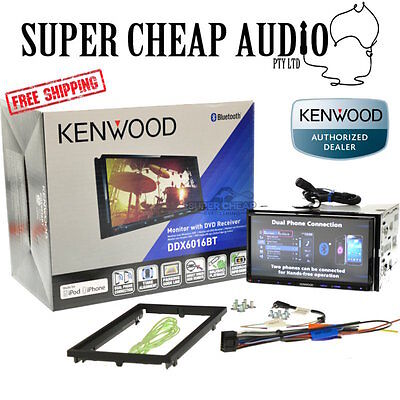 "Kenwood Ddx6016Bt 7"" Dvd Screen Bluetooth 1.5 Amp Usb Charge Mode Android Ipho"