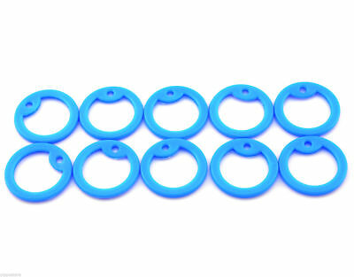 Pack of 10 Sky Blue Color Military Army ID Dog Tag Rubber Silicone Silencers