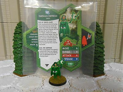 Heroscape Custom Emerald Empress Double Sided Card and Figure with Sleeve DC