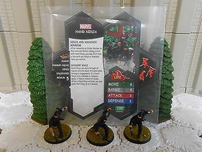 Heroscape Custom Hand Ninja Double Sided Card & Figures w/ Sleeve Marvel