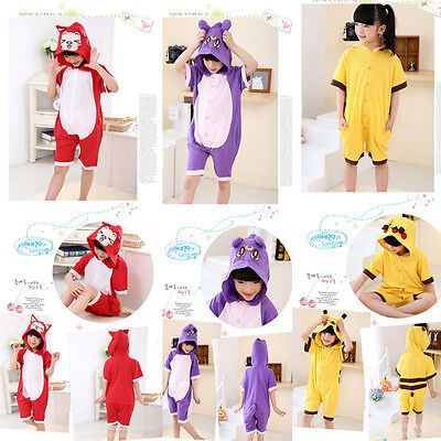 SALE Summer Unisex Kid Pajamas Child Kigurumi Cosplay Animal Onesie Sleepwear