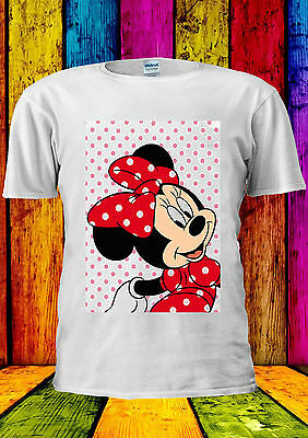 Disney Minnie Mouse Mickey Cute Girl T-shirt Vest Tank Top Men Women Unisex 373