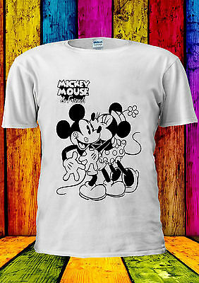 Disney Mickey Minnie Mouse Hug Love T-shirt Vest Tank Top Men Women Unisex 388