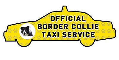 Funny Border Collie Dog Taxi Sevice vinyl car decal sticker Pet Animal Lover