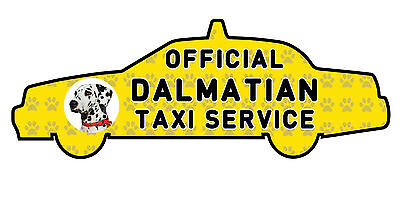 Funny Dalmatian Dog Taxi Sevice vinyl car decal sticker Pet Animal Lover