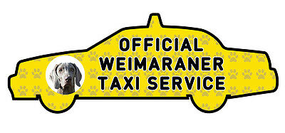 Funny Weimaraner Taxi Sevice vinyl car decal sticker Pet Animal Lover