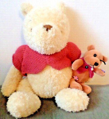 "15"" Classic Pooh With His Patched Up Teddy"