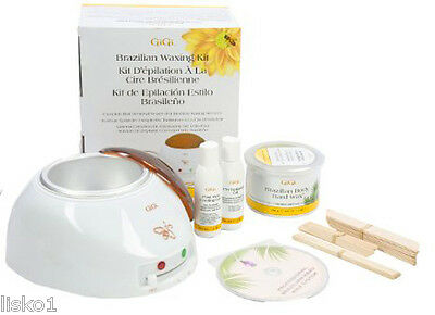 GiGi 0954 Brazilian Waxing Kit Complete Hair Removal System