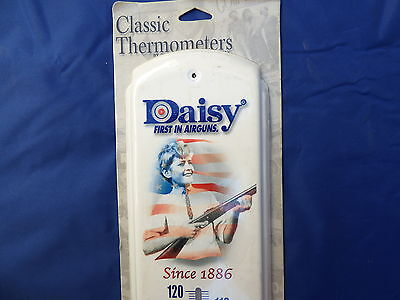 """17""""x5"""" METAL TIN THERMOMETER NEW Daisy airguns since 1886 man cave garage A11"""