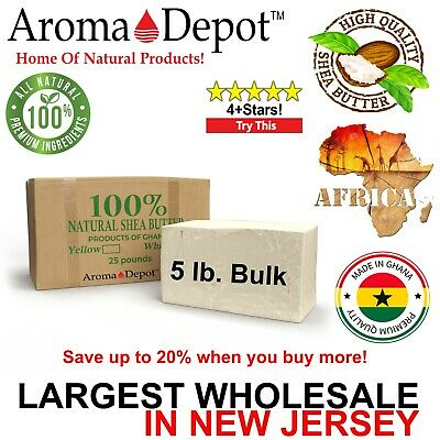 5 Lb. African Shea Butter 100% Raw Organic Unrefined Raw Bulk Wholesale