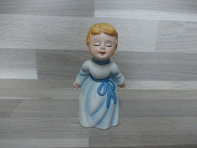 2 Little biscuit porcelain angel ornaments - cherub - 2 X engel in porselein