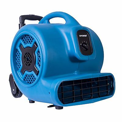 XPOWER P-800H 3/4 HP Commercial Grade Air Mover Carpet Dryer w/ Handle & Wheels