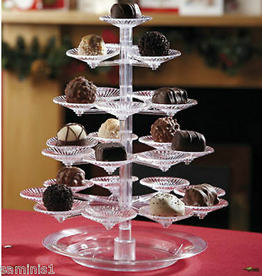 NEW~DELICACY TREE-23 MINI TRAYS FOR SWEETS & CANAPES - A MUST FOR PARTIES, BBQs