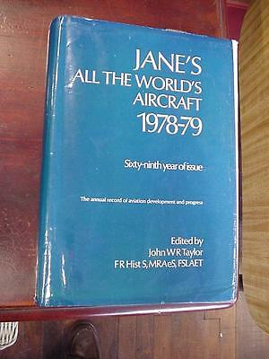1978-79 Jane's All Worlds Aircraft W/ Dust Jacket 800+ Pages Good Condition