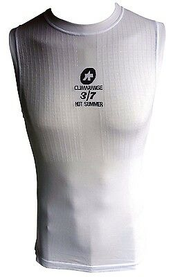 ASSOS NS.SKINFOIL_HOTSUMMER Cycling Base Layer Sleeveless White Premium EURO