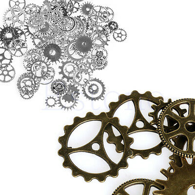 A Pack 100g Mix Antique Steampunk Cogs Gears Clock Hand Charm Pendant Alloy New