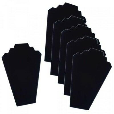 """6 Black Velvet Necklace Easel Jewelry Displays 12.5"""", New, Free Shipping"""