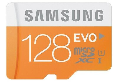 Samsung 128GB Evo Micro SDXC UHS-I Class 10 Memory Card  with Adapter - 48 MB/s