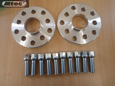 Audi A3 TT Hubcentric 5 hole 15mm wheel spacer kit & Radius Bolts 5x100/112