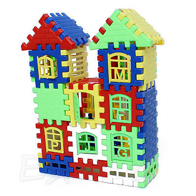 Children Kids Bricks House Building Blocks Construction Set Learning Toy Funny