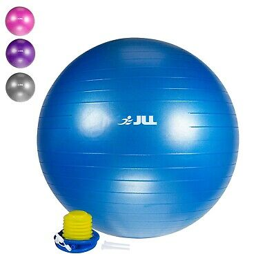 Anti Burst Fitness Exercise Gym Ball Swiss Yoga Birth Ball + Free Foot Pump 55cm