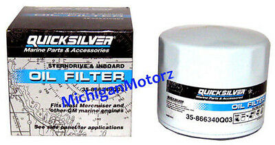 Genuine MerCruiser Oil Filter - GM Inline 4 & 6 cyl. V8, 35-866340Q03