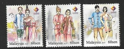Malaysia 2015 Four Nations Stamp Exhibion Mnh