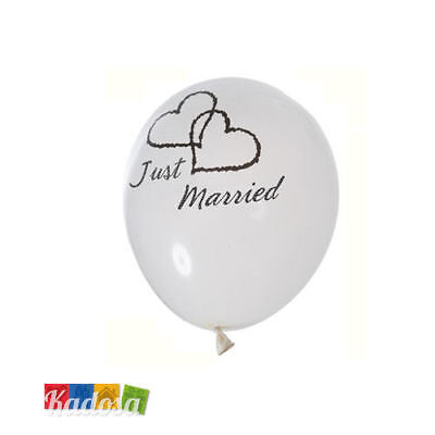 10 Palloncini Just Married wedding palloncino bianco party matrimonio sposa