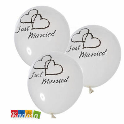 50 Palloncini Just Married wedding palloncino bianco party matrimonio sposa