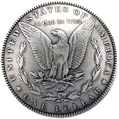 "Concho Antique Silver Screwback 1.375"" Morgan Dollar Tails BC1932-02"