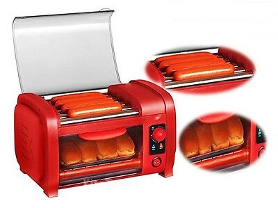 Sausage Hot Dog Roller Grill Toaster Oven Cooking Baking Heating Bread Kitchen