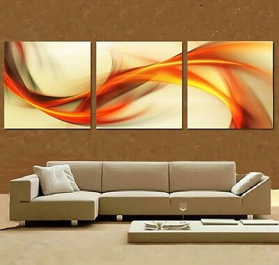 NOT FRAMED  Home Decor Canvas Print Abstract Wall Art Modern Picture Orange