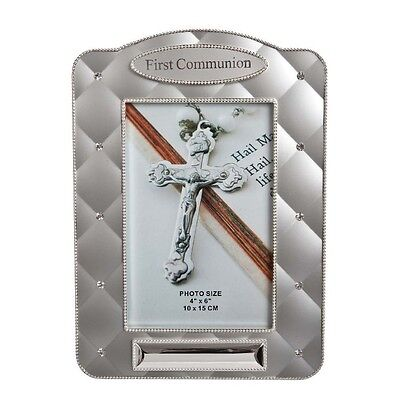 First Holy Communion Quilted Diamante Photo Frame