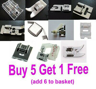Clip On Sewing Machine Foot for Low Shank Domestic Machines for Janome & others