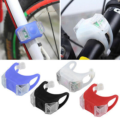 1Pc Bike Bicycle MTB LED Frog Head Front Lamp Warning Rear Flash Light E0