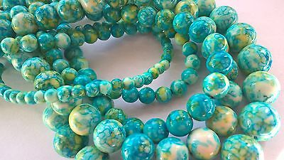 "Natural gemstone beads,Jade,16""strand,mixed colour(blue),4-12mm"